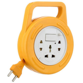Mettle Extension Board FLEXBOX MULTIPLUG 6 YARD WIRE 3 Socket with Switch EXTENSION CORD-Yellow