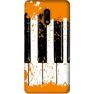 FUSON Designer Back Case Cover For Nokia 6 (Black And White Colour Splash Droplets Music )