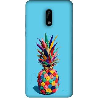 FUSON Designer Back Case Cover For Nokia 6 (Light Bright Cream Pineapple Lamp Ananas Pineapple Skin)