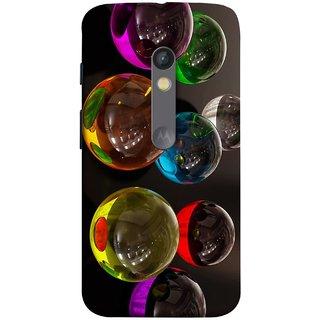 FUSON Designer Back Case Cover for Motorola Moto X Play (Floral Pattern Free Fluorescent Colorful Bubbles)