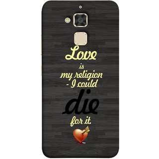 FUSON Designer Back Case Cover For Asus Zenfone 3 Max ZC520TL (5.2 Inches) (Broken Heart Arrow Quotes Pyar Hi Mera Dharm Hai)