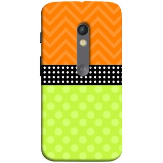 FUSON Designer Back Case Cover for Motorola Moto X Play (Pack Craft PaperWhite Dots On Black Background)
