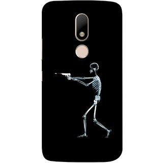 FUSON Designer Back Case Cover for Motorola Moto M (Incredible Human Xray Pictures Revolver Icon In Black)