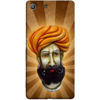 FUSON Designer Back Case Cover For Sony Xperia Z3 Compact :: Sony Xperia Z3 Mini (Vector Illustration Turban Headdress And Mustache Isolated)