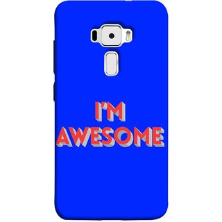 FUSON Designer Back Case Cover For Asus Zenfone 3 ZE520KL (5.2 Inches) (I Am Lovely Wow Fact Motivational Inspirational Words)
