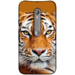 FUSON Designer Back Case Cover for Motorola Moto X Style :: Moto X Pure Edition (Wild Jungle Tigers Whisker Roaring Sitting Safari India)