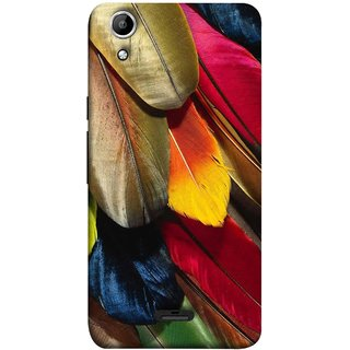 FUSON Designer Back Case Cover for Micromax Canvas Selfie 2 Q340 (Birds Feathers Parrot Peacock Long Blue Colour)