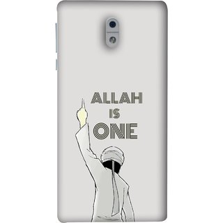 FUSON Designer Back Case Cover For Nokia 3 (Allah One Arab Haj Men Middle East Necklaces)
