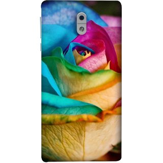 FUSON Designer Back Case Cover For Nokia 3 (Rose Colours Red Pink Yellow Blue Lovely Roses)