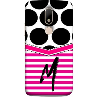FUSON Designer Back Case Cover for Motorola Moto M (Beautiful Cute Nice Couples Pink Design Paper Girly M)