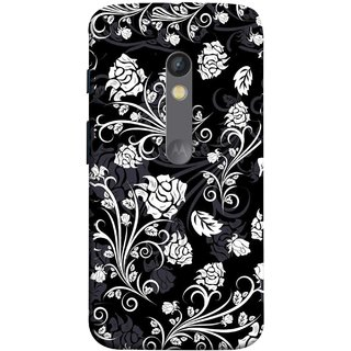 FUSON Designer Back Case Cover for Motorola Moto X Play (Hot Tattoo Boys Flowers Design Wallpaper Background )