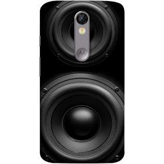 FUSON Designer Back Case Cover for Motorola Moto X Force :: Motorola Moto X Force Dual SIM ( Closeup At Moving Sub-Woofer. Speaker Part Abstract)