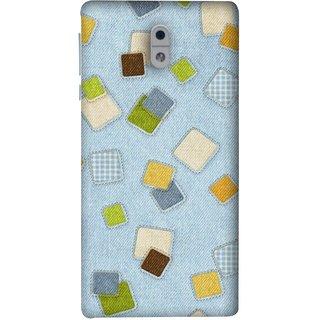 FUSON Designer Back Case Cover For Nokia 3 (Lot Colours Squares Patch Tiles Brown White Checks )