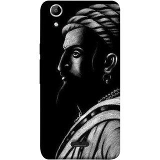 FUSON Designer Back Case Cover for Micromax Canvas Selfie 2 Q340 (Chatrapati Shivaji Maharaj Sideview Jiretop With Beard)
