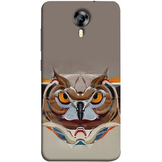FUSON Designer Back Case Cover for Micromax CanvasNitro4G E371 (Multicolour Owl Perfect Look King Bird Night Tree )