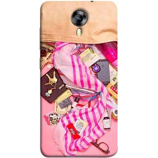 FUSON Designer Back Case Cover for Micromax CanvasNitro4G E371 (Iphone Larabar Key Chains Money Notes Shampoo)