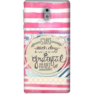 FUSON Designer Back Case Cover For Nokia 3 (Great Hearts Dil Love Everyday Quotes Sunny Bright )