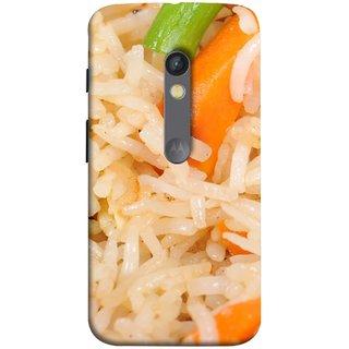 FUSON Designer Back Case Cover for Motorola Moto X Play (Veg Rice Hot With Raita White Top Recipes Food)