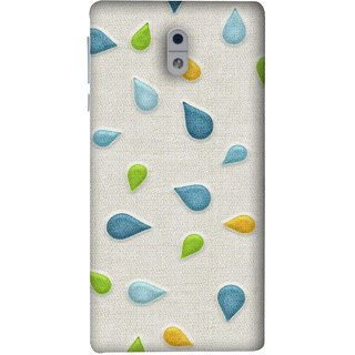 FUSON Designer Back Case Cover For Nokia 3 (Water Drops Flowers Table Cloth Curtain Cloths)