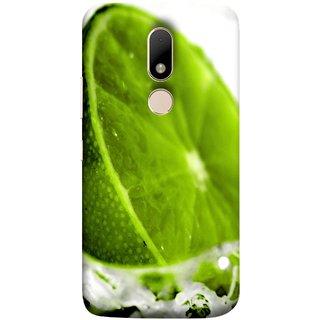 FUSON Designer Back Case Cover for Motorola Moto M (Lemon Lime Sweet Agriculture Farm Fresh Cut Cell)