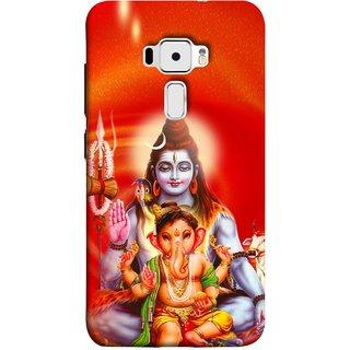 FUSON Designer Back Case Cover For Asus Zenfone 3 ZE520KL (5.2 Inches) (Ganpati Shiva Om Namah Shivay Sitting Jatadhari Kamal)
