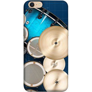 FUSON Designer Back Case Cover For Oppo A39 (Drum Set Musical Instrument Four Piece Shell Pack)