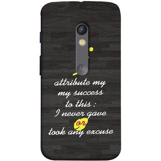 FUSON Designer Back Case Cover for Motorola Moto X Play (My Success In Life Factor Business Job Never)