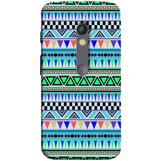 FUSON Designer Back Case Cover for Motorola Moto X Play (Tribal Patterns Colourful Eye Catching Verity Different )