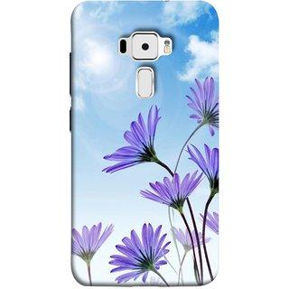 FUSON Designer Back Case Cover For Asus Zenfone 3 ZE520KL (5.2 Inches) (Daisy Flower Garden Blue Sky White Clouds )