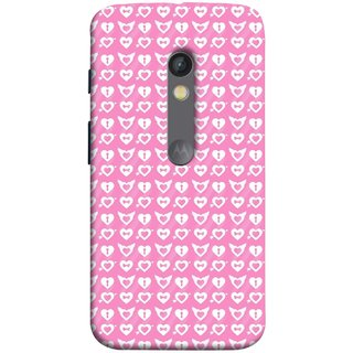 FUSON Designer Back Case Cover for Motorola Moto X Play (Valentine Pink Metallic Cool Peace Sign Symbol Pillow)