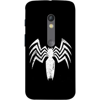 FUSON Designer Back Case Cover for Motorola Moto X Play (Spiderman Logo Catwoman Dc Comics Parker)