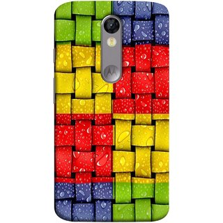 FUSON Designer Back Case Cover for Motorola Moto X Force :: Motorola Moto X Force Dual SIM (Bright And Beautiful Colour Strips And Band Wave )