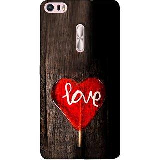 FUSON Designer Back Case Cover For Asus Zenfone 3 Ultra ZU680KL (6.8 Inch Phablet) (Big Tree Dark Red Candy Heart Shape)