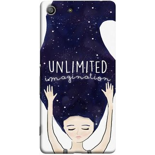 FUSON Designer Back Case Cover For Sony Xperia Z3 Compact :: Sony Xperia Z3 Mini (Girls With Long Hairs See Universe Milky Way Stars )