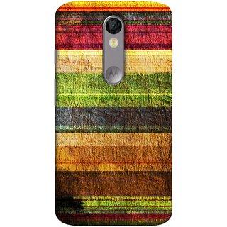 FUSON Designer Back Case Cover for Motorola Moto X Force :: Motorola Moto X Force Dual SIM (Horizontal Rainbow Painted Brush Strokes Art)