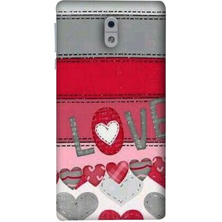 FUSON Designer Back Case Cover For Nokia 3 (Love Birds Couples Forever Full Of Love Pyar Valentine)