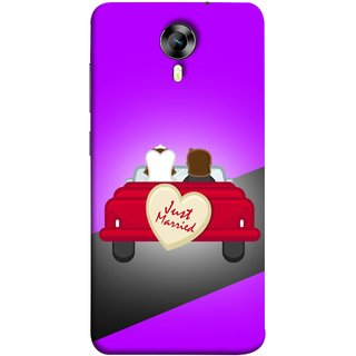 FUSON Designer Back Case Cover for Micromax CanvasNitro4G E371 (Banner Boards Marriage Coulples Car Travel )