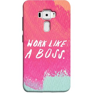 FUSON Designer Back Case Cover For Asus Zenfone 3 ZE520KL (5.2 Inches) (Always Keep Control On Everything On Work Life )