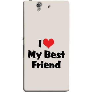 FUSON Designer Back Case Cover For Sony Xperia Z :: Sony Xperia ZC6603 :: Sony Xperia Z L36h C6602 :: Sony Xperia Z LTE, Sony Xperia Z HSPA+ (Lover True And Pure Friendship Day Hearts Forever)