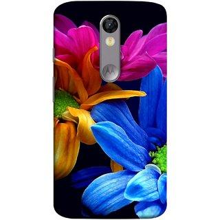 FUSON Designer Back Case Cover for Motorola Moto X Force :: Motorola Moto X Force Dual SIM (Colourful Wow Hd Gerbera Flowers Pink Blur Orange)
