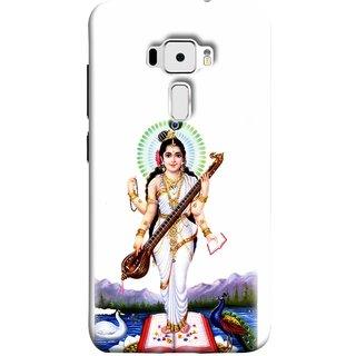 FUSON Designer Back Case Cover For Asus Zenfone 3 ZE520KL (5.2 Inches) (Goddess Of Knowledge Eloquence Learning Saraswati)