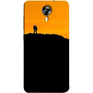 FUSON Designer Back Case Cover for Micromax CanvasNitro4G E371 (Friends Family Lovers Lovebirds Standing Rocks Evening)