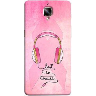 FUSON Designer Back Case Cover For Oneplus 3T (Valentine Pink Metallic Amazing In Concert Events )