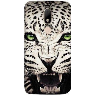 FUSON Designer Back Case Cover for Motorola Moto M (Jungle King Stearing Angry Roaring Loud Aslan Panther)