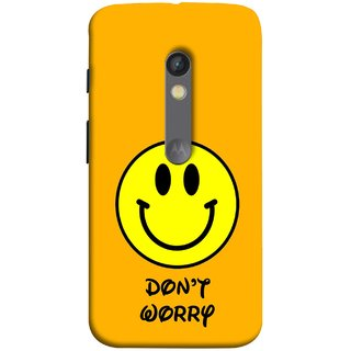 FUSON Designer Back Case Cover for Motorola Moto X Play (Big Smiling Baby Smiley Be Happy Never Worry)