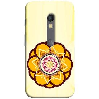 FUSON Designer Back Case Cover for Motorola Moto X Play (Best Rangoli Patterns Treditional Photo Wallpapers )