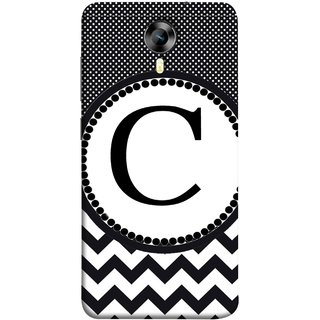 FUSON Designer Back Case Cover for Micromax CanvasNitro4G E371 (Alphabets Dots Black Shade Wave Patterns White)
