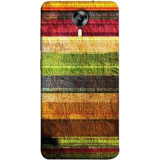 FUSON Designer Back Case Cover for Micromax CanvasNitro4G E371 (Horizontal Rainbow Painted Brush Strokes Art)