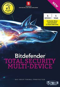 Bitdefender total Security Multi-Device 1(+2Device Free on activation)