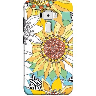FUSON Designer Back Case Cover For Asus Zenfone 3 ZE520KL (5.2 Inches) (Sunflowers Flowers Green Grass Beautiful Painting Canvas)